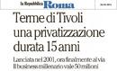 privatizzazione terme di tivoli
